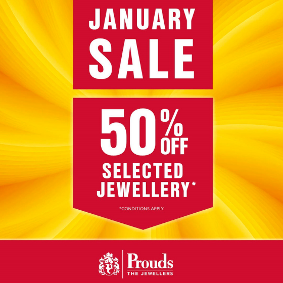 <p>Dreaming of Jewellery?  Diamonds, Gold, Silver and Watches?</p> <p>Prouds The Jewellers Sale is on now!</p> <p>With up to 50% off or more on selected items!</p> <p>Dreams come true at Prouds.</p> <p>Sale on now.</p>