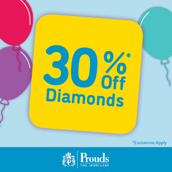 <p>Prouds The Jewellers massive Birthday Sale is on now!</p> <p>Dreaming of Diamonds, Gold, Gemstones, Silver and Watches?</p> <p>Now's the time to buy that special gift at Prouds</p> <p>with 20-40% off Jewellery and Watches</p> <p>Surprise the one you love with a gift from Prouds</p> <p>Sale on now</p>